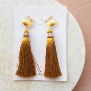 Flowerly – Long Tassel Earring