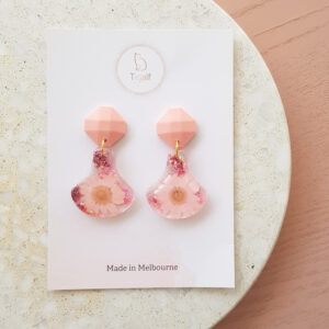 Flowerly – Pink Drop Earring
