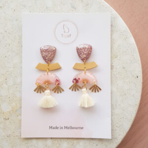 Flowerly – Pink Glam Earrings