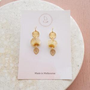 Flowerly – Leaf Dangle Earring