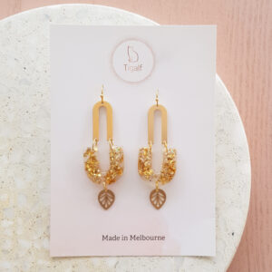 Flowerly – Glitter Drop Earring