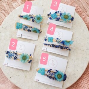 Flowerly Hair Clip – Blue