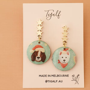 Christmas Dog Earrings