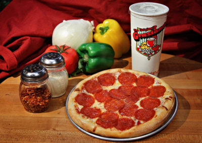 Ind 1 Topping Pizza & Bottomless Beverage (Dine In Only)