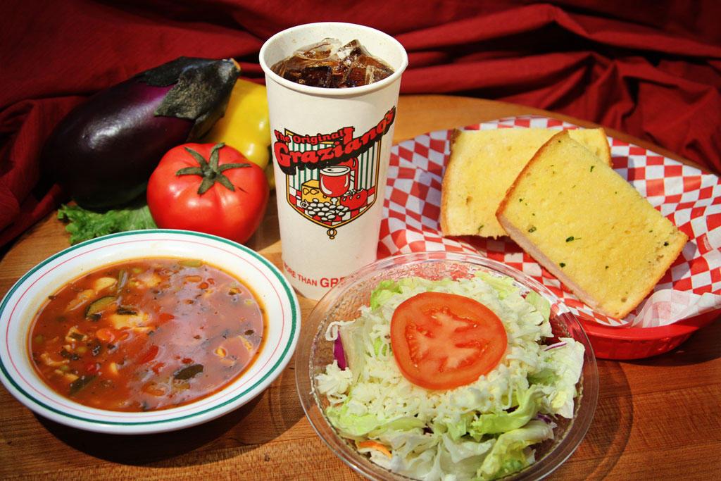 Sm Salad, Soup, Garlic Bread & Drink (Dine In Only)