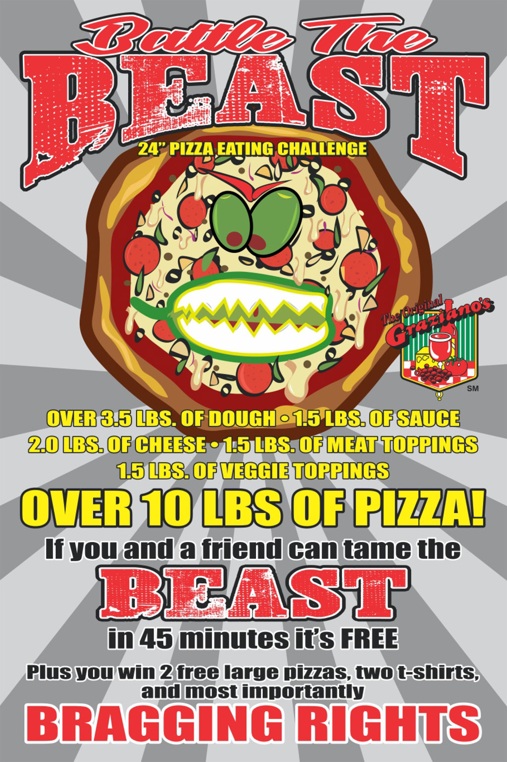 Monster Pizza Challenge
