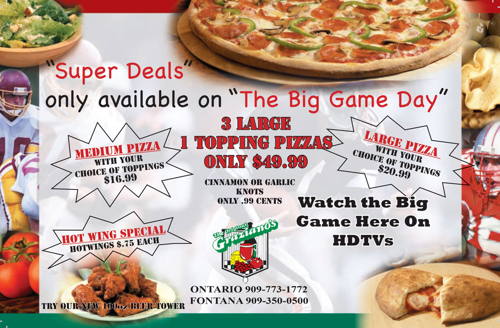 Big Game Day Special