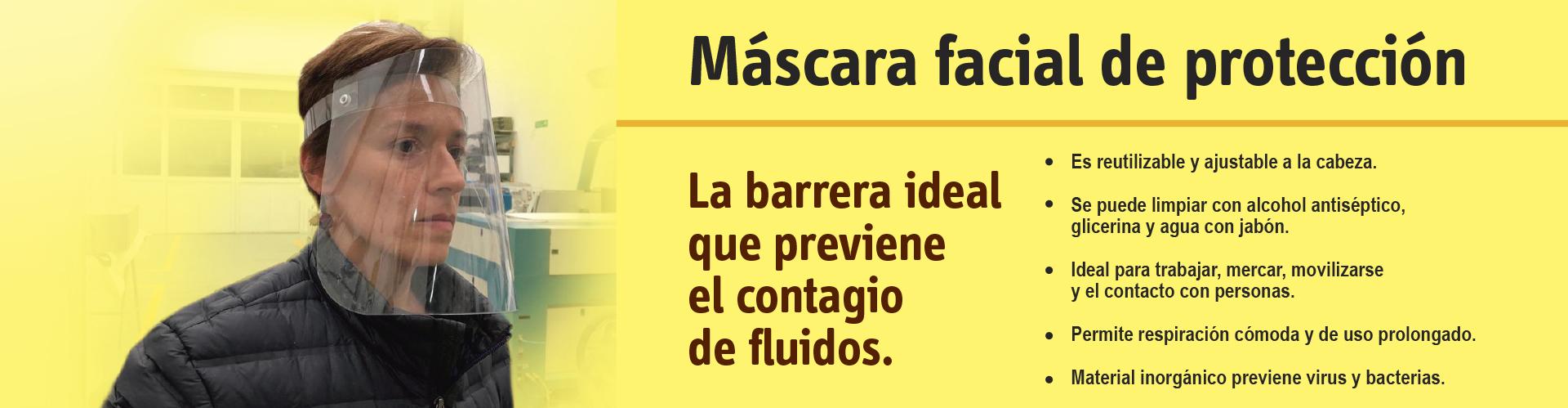 Máscaras faciales de protección personal