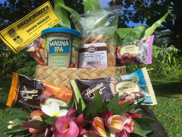 Close up of snack basket from kauai