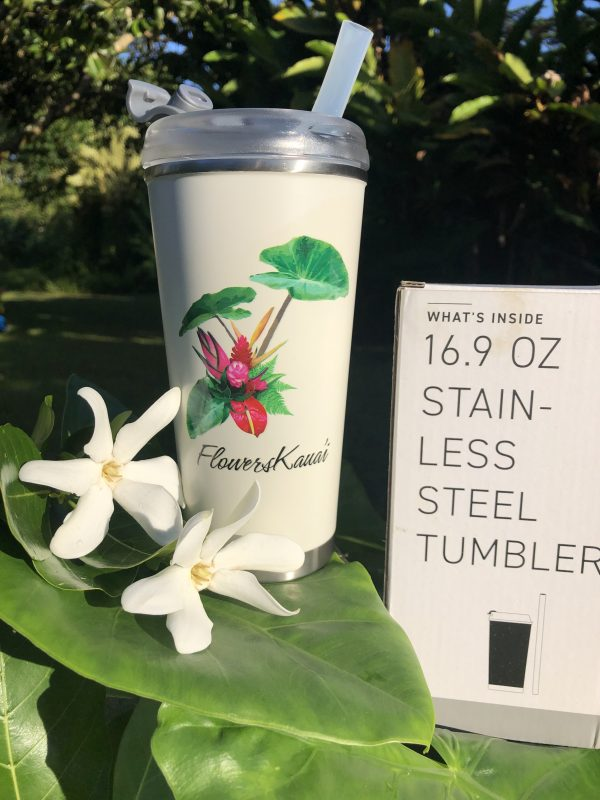 flowers kauai tumbler mug 16oz