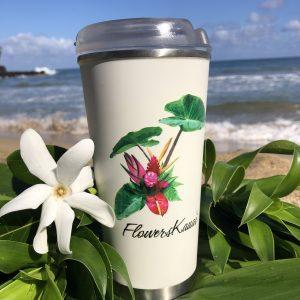 Flowers Kauai 16 oz tumbler mug