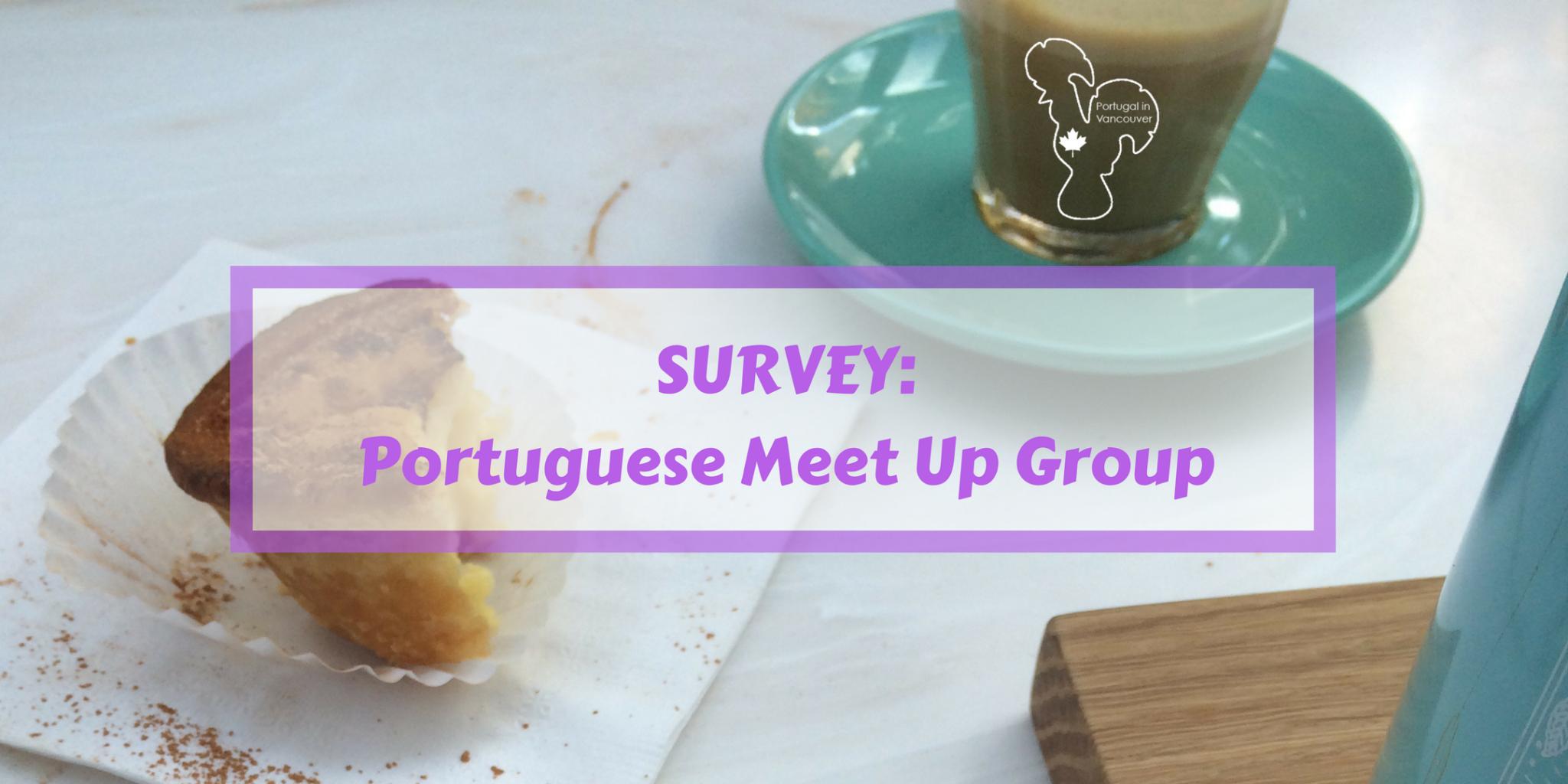 Survey Portuguese Meet Up Group