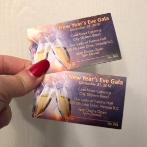 Tickets for the New Year's Eve Party in Victoria