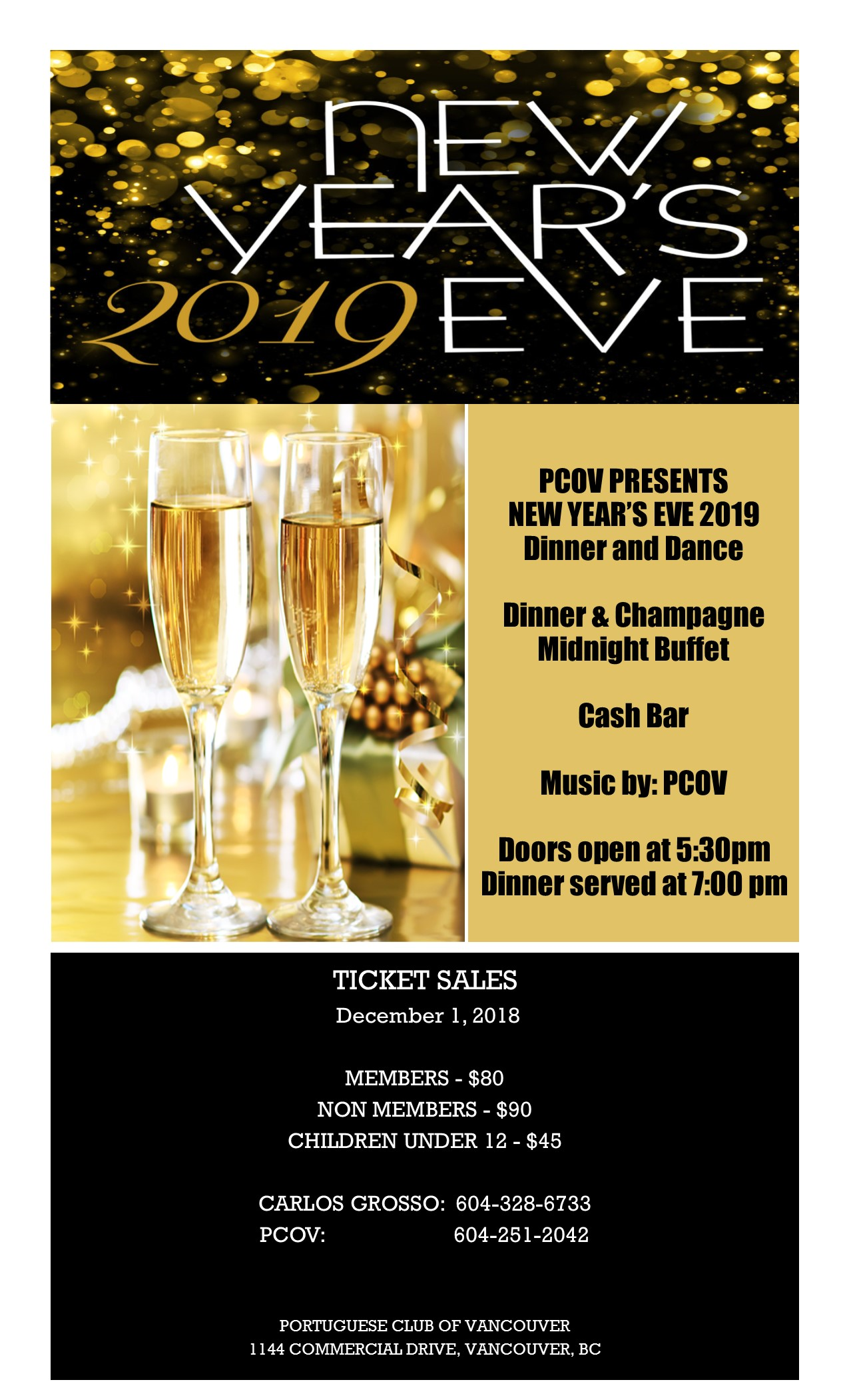 Portuguese Club of Vancouver, New Year's Eve 2019