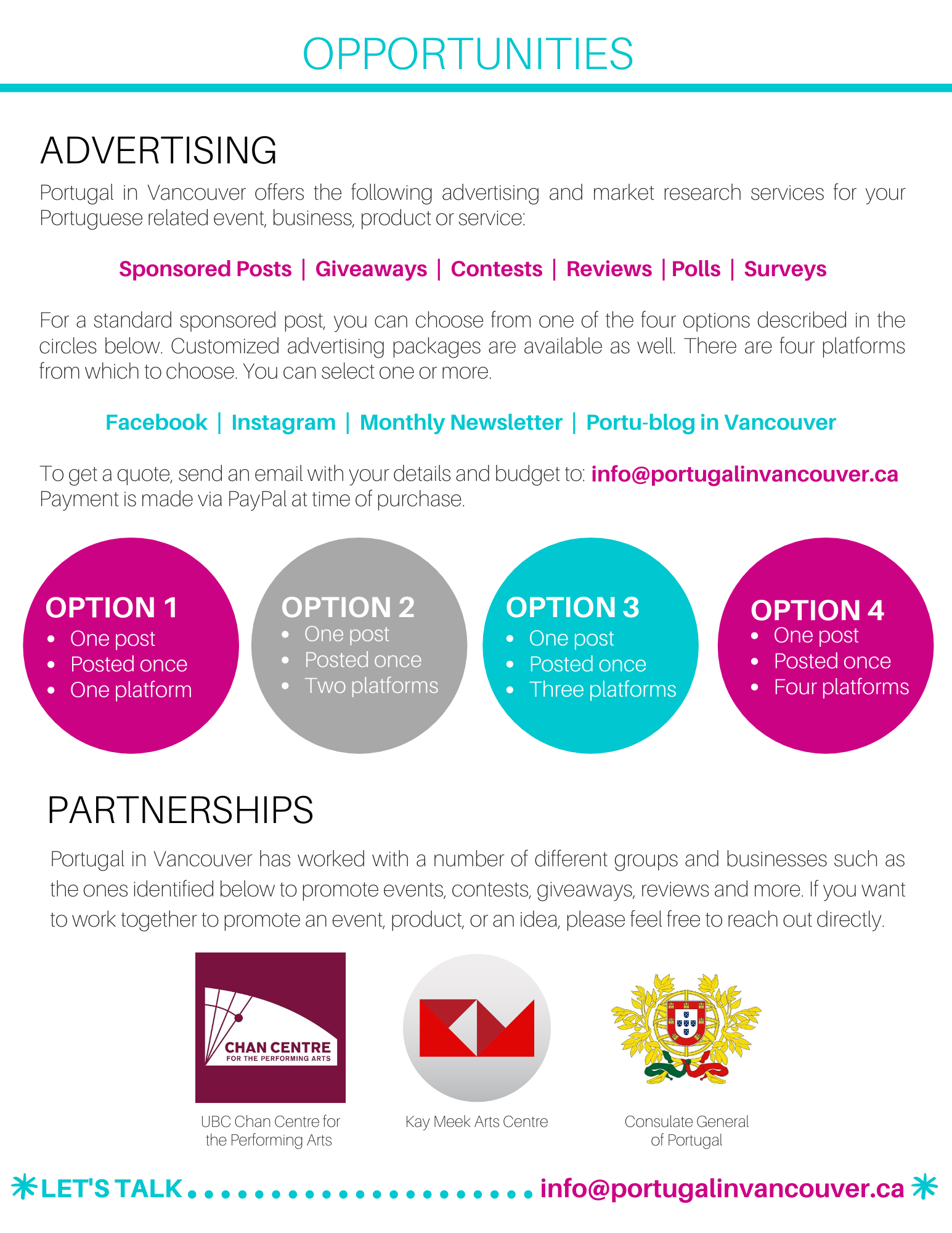 Portugal in Vancouver Media Kit - January 2020