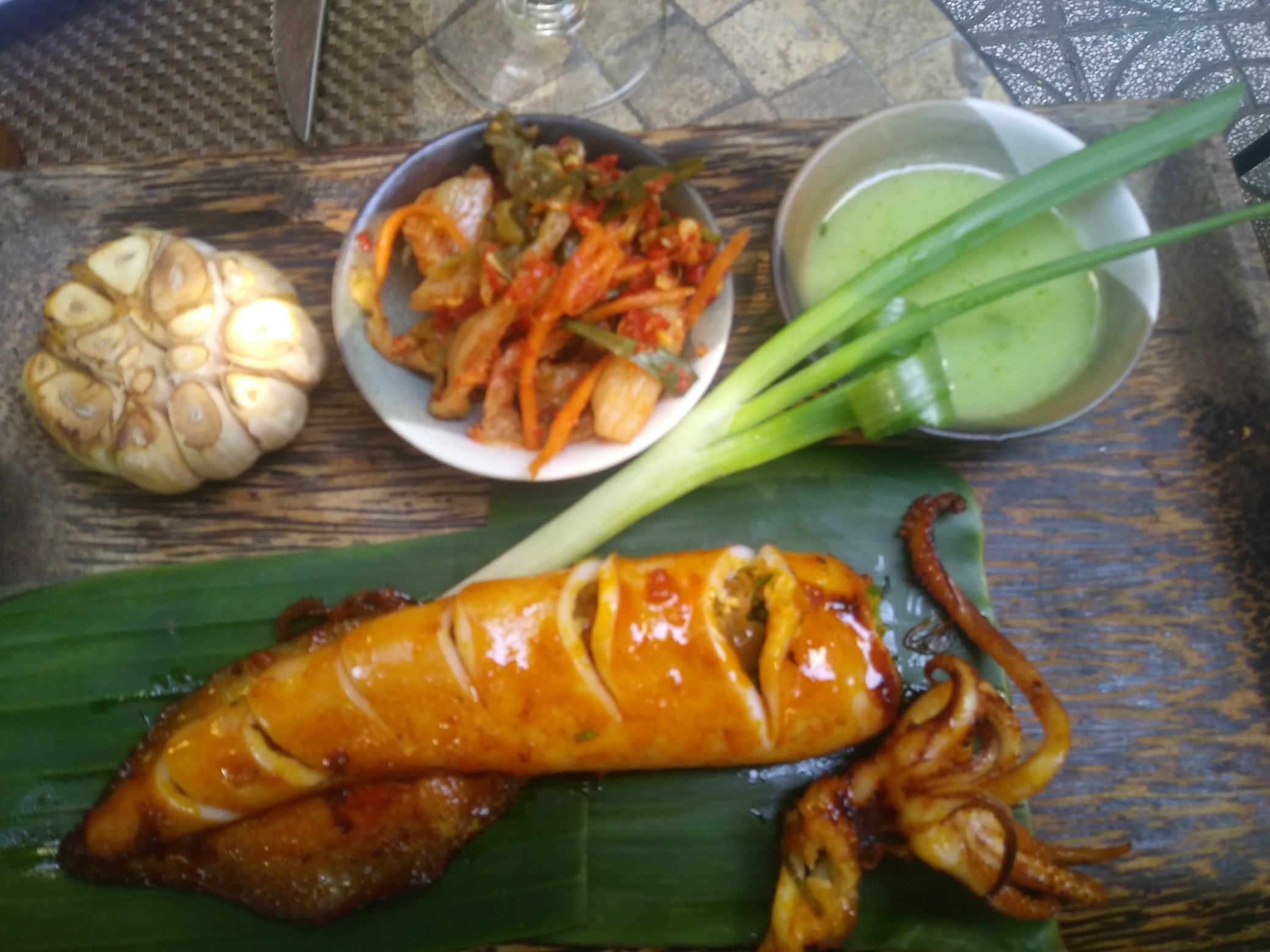 My 1st Vietnamese meal, a whole squid!