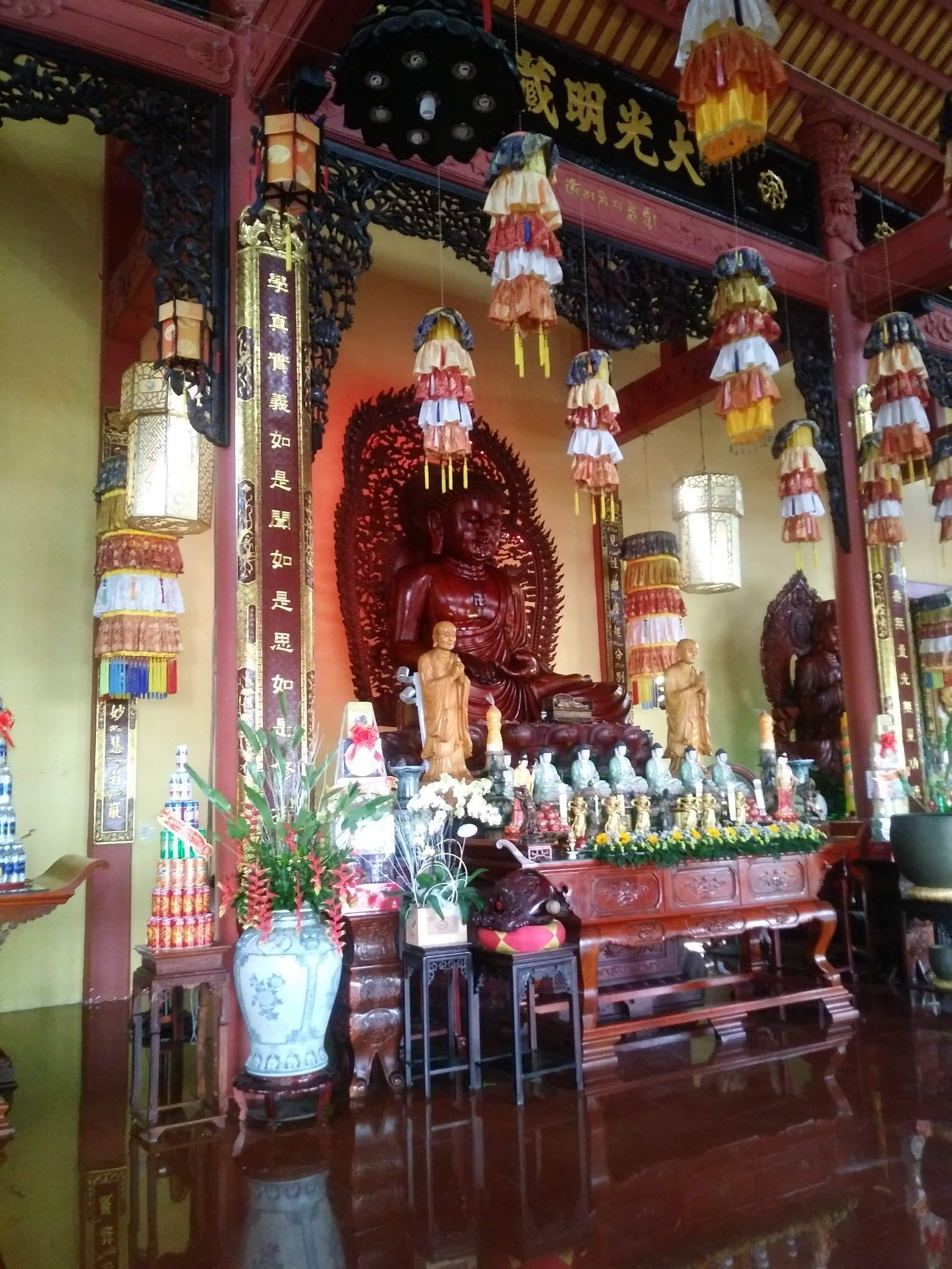 Buddhist temple ion Can Tho
