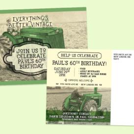 60th Birthday Celebration Invitation