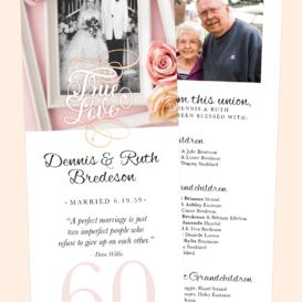 60th Wedding Anniversary Celebration Invitation