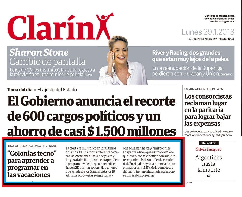 Diario Clarín – Tapa