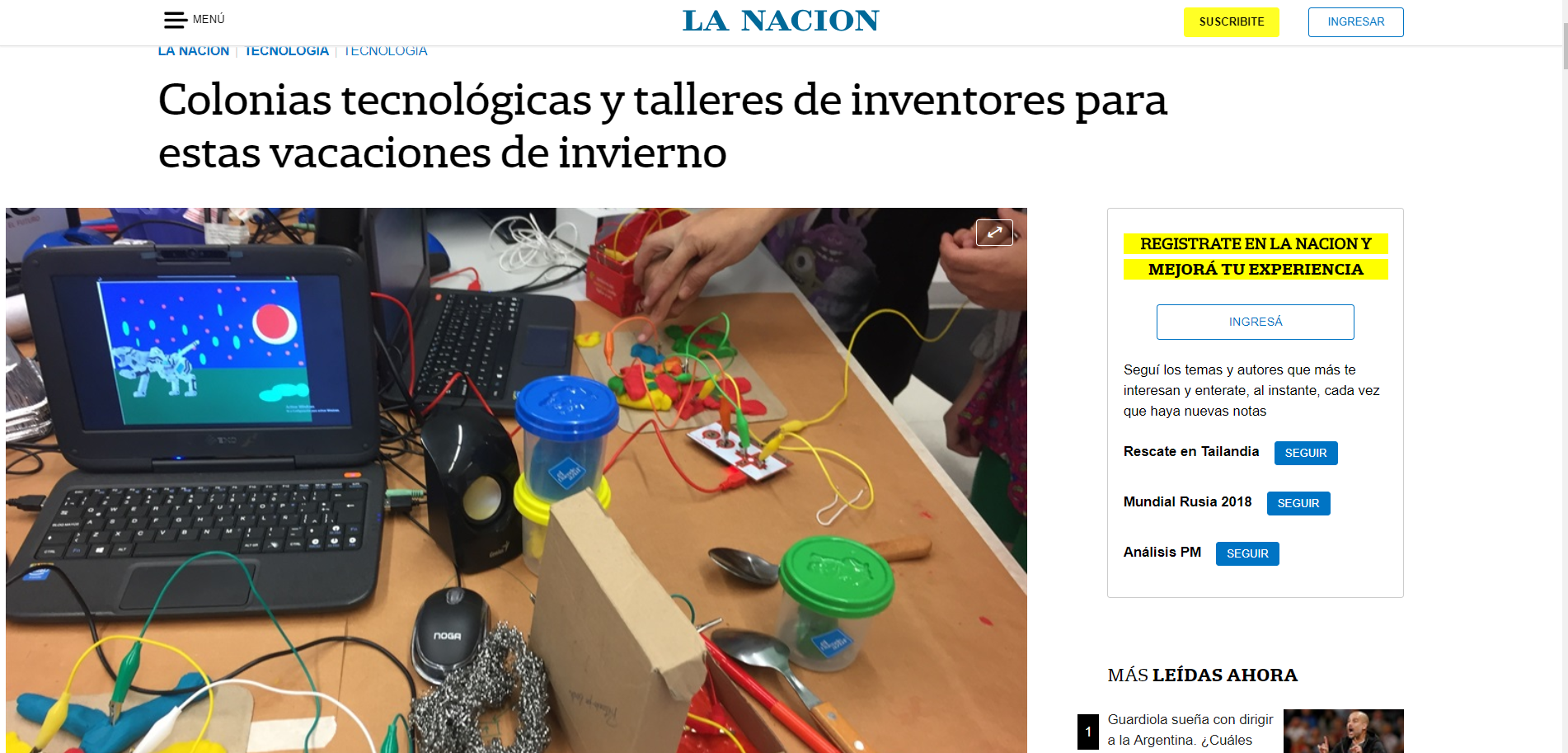 TecnoKids en La Nación