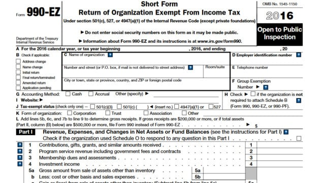 What's New on Form 990?