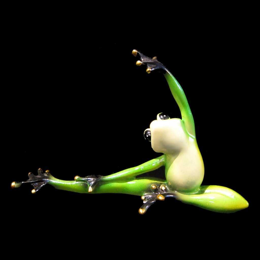 Yoga Frog Statue