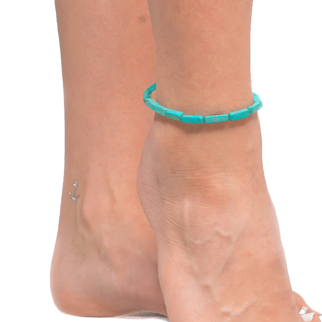 Anklet with Reconstructed Turquoise