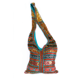 Cross Body Bag Colorful Handmade