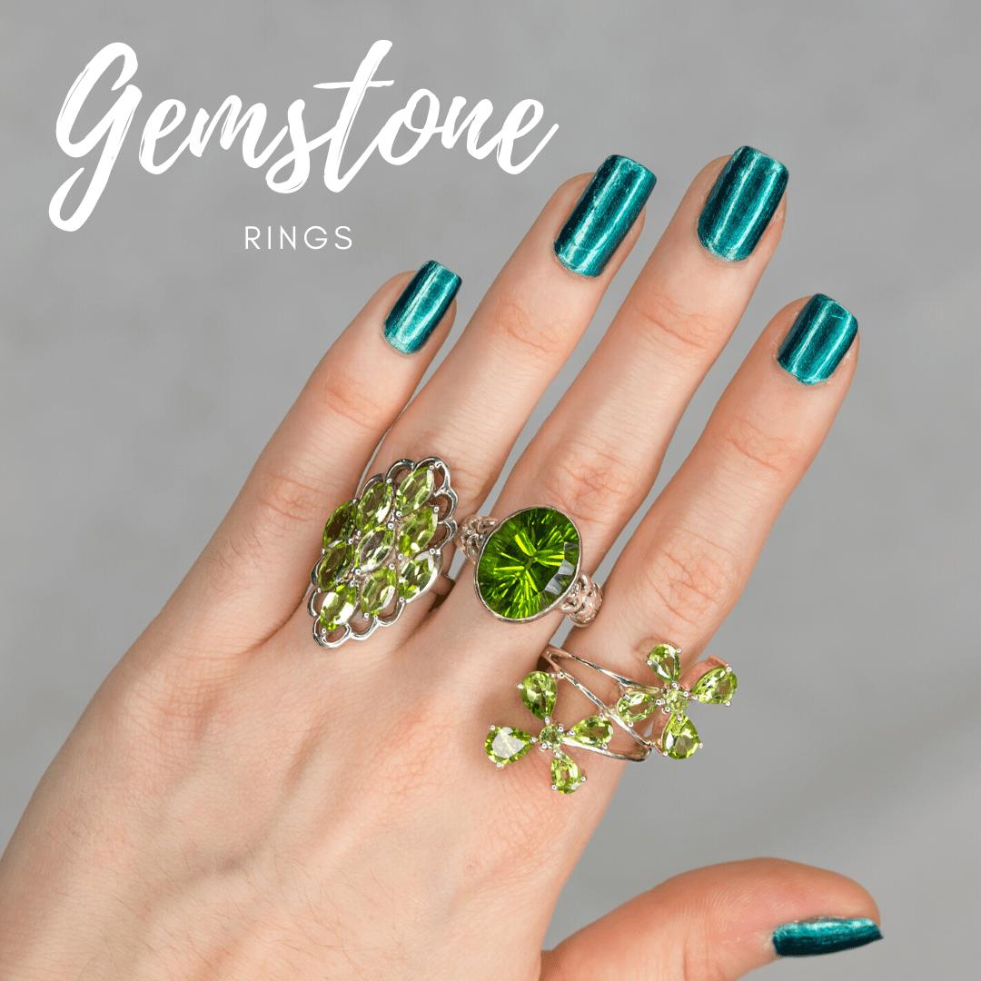 Gemstone Rings for Men & Women