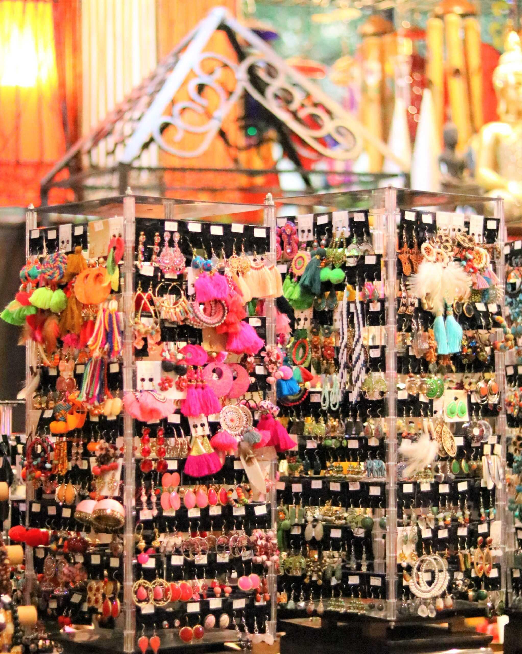 Earrings Section Inside the Shop