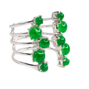Jade Silver Plated Ring