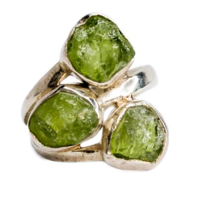 Peridot Silver Plated Ring