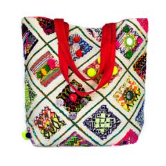 Handmade in Thailand Tribal Patchwork Shoulder purse