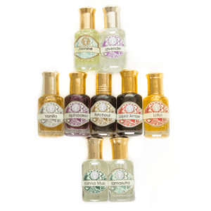 Natural Perfume Oils in Roll-On Glass Bottles 10 ml
