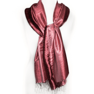 Thai Silk Scarf in Dark Red