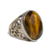 Faceted Tigers Eye Ring Size 6