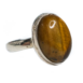 Oval Polished Tigers Eye Ring Size 8