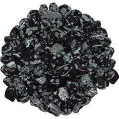 Snow Flake Obsidian Tumbled Stones