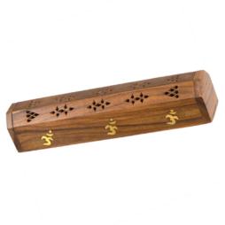 Wood Carved Boxes Burners/Holders - OM