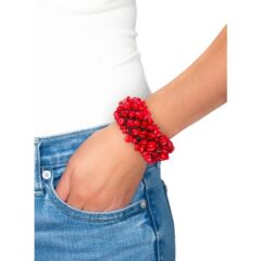 Hand-Woven Coral Cuff Bracelet