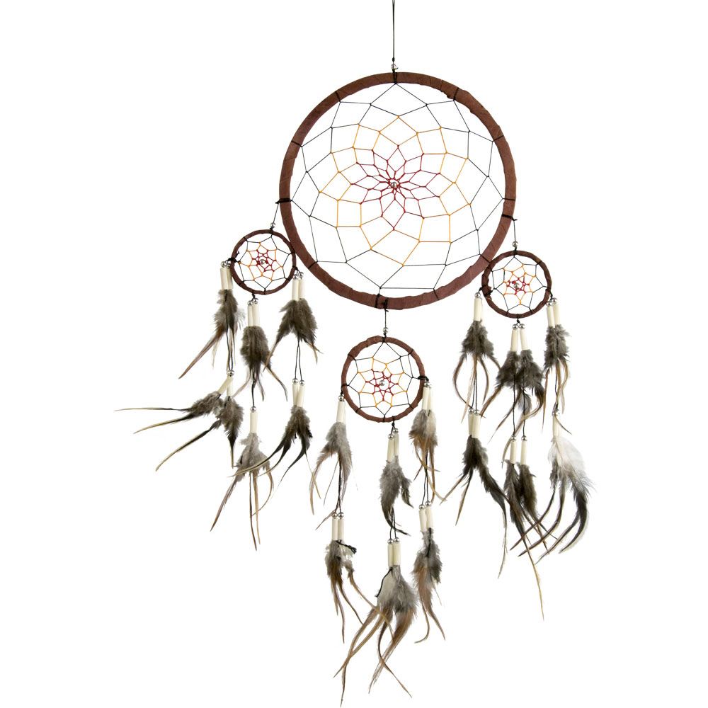 Multilayered Brown Dreamcatcher with Beads