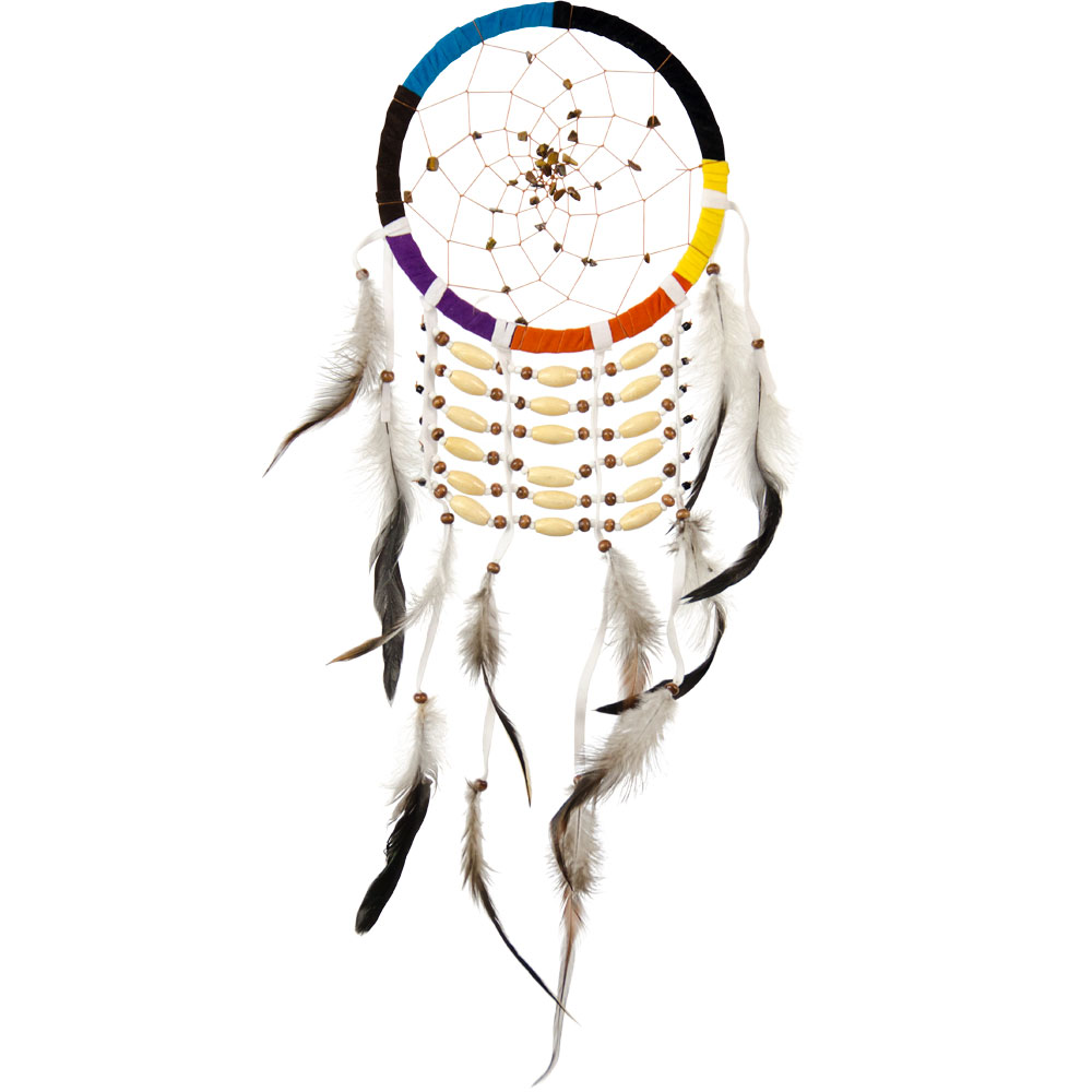 Multicolored Dreamcatcher with Beaded Links