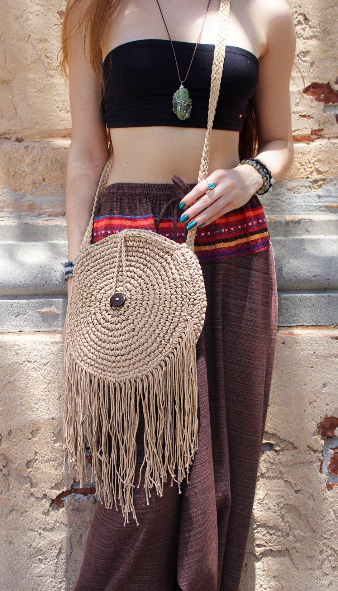 Hand Woven Fringed Purse