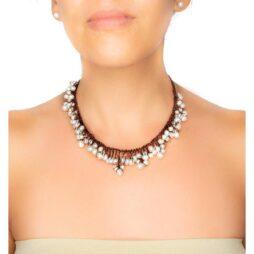 Handmade Pearl Collar Necklace