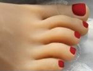10 – Dark Red Toenails