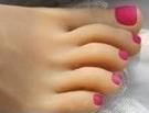 2 – Dark Pink Toenails