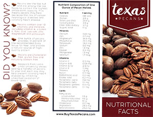 Texas Pecans Nutritional Facts