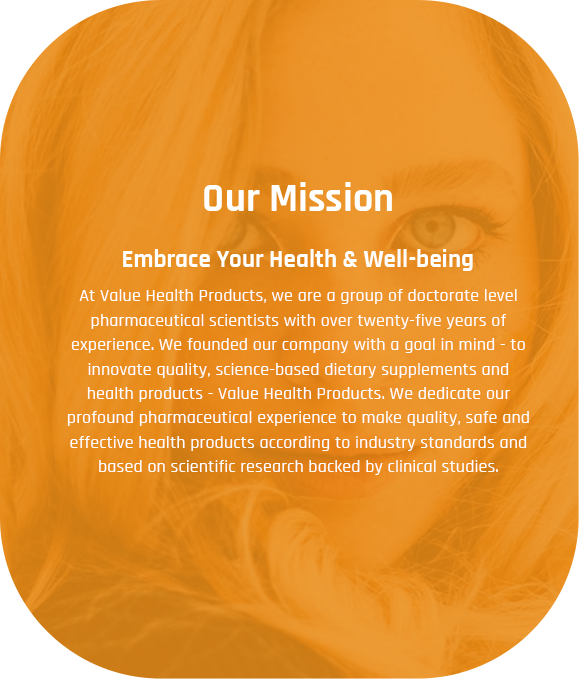 Value Health Products Supplements Mission
