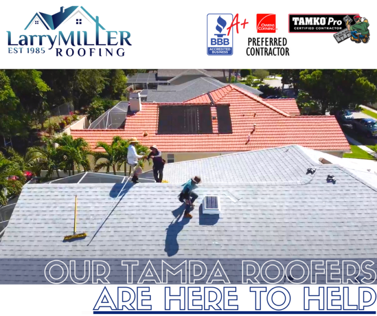 our Tampa roofers are here to help roof leaks